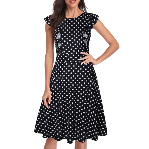 robe patineuse a pois