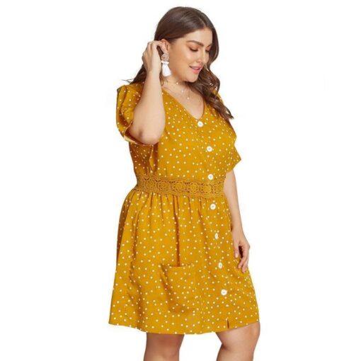 robe en dentelle jaune