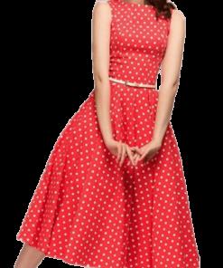 robe a pois courte rouge petit pois