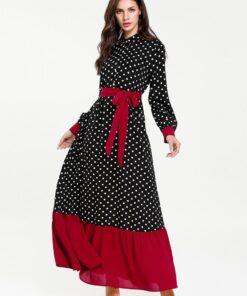 Robe à Pois##Robe à Pois moyen-orient décontracté - coccinelle-paradis
