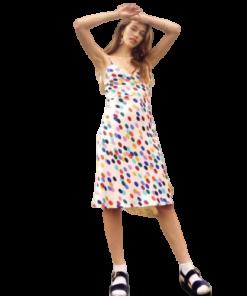 robes courtes claires a petits pois