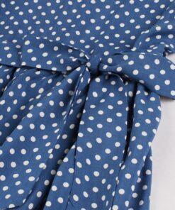 Robe à Pois#pull col en v femme#Robe à Pois<br> femme idéal avec pull col en v - coccinelle-paradis