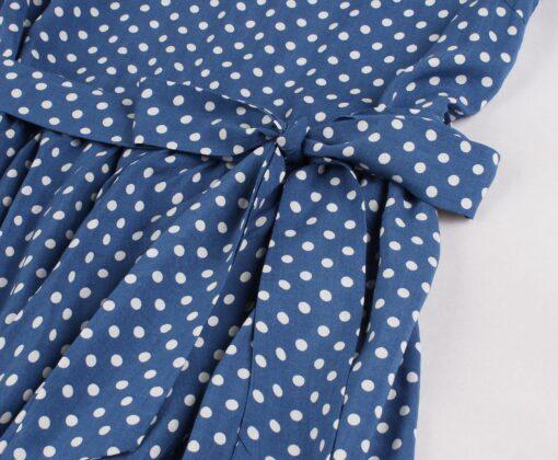 Robe à Pois#pull col en v femme#Robe à Pois femme idéal avec pull col en v - coccinelle-paradis