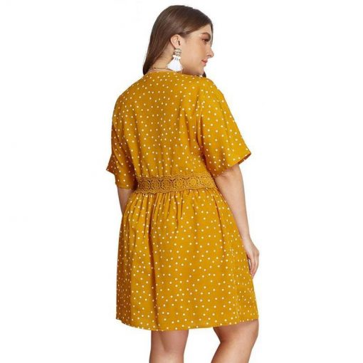robe jaune dentelle