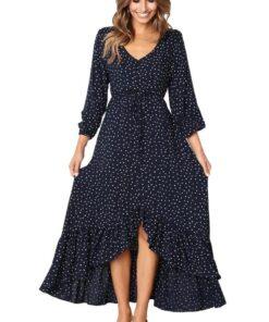 Robe à Pois##Robe à Pois longue Automne Broderie - coccinelle-paradis