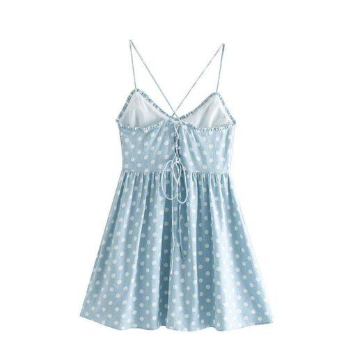 Robes à Pois Courtes##Robe à Pois Courte Vintage Décontracté Polka - coccinelle-paradis