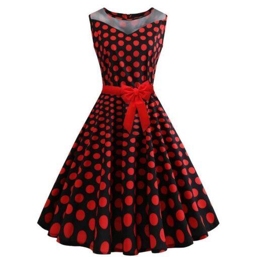 robe a pois noir pois rouge