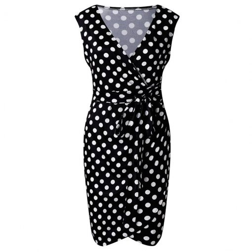 robe cocktail a pois annee 50