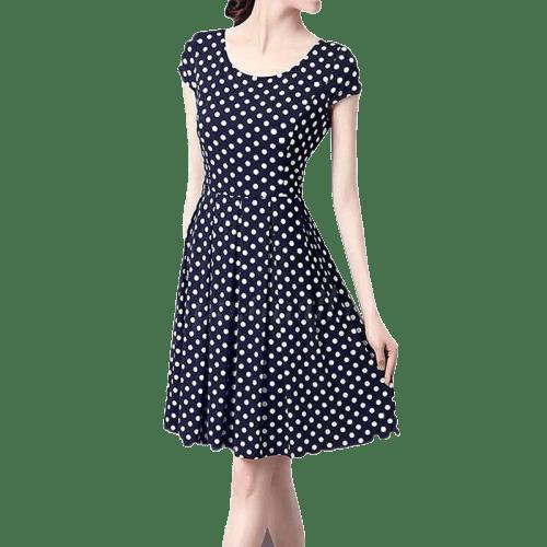 robe a pois courte retro femmes vacances