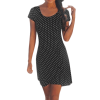 robe a pois courte noir a petit pois blanc