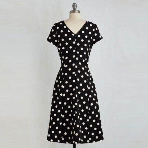 robe a pois sans manche