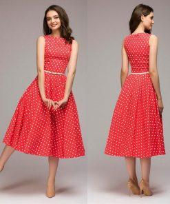 robe à pois année 50 de bain grande taille rouge