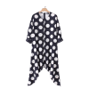 robe cocktail poncho noire a pois annee 50