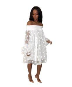 robe longue epaule denudee