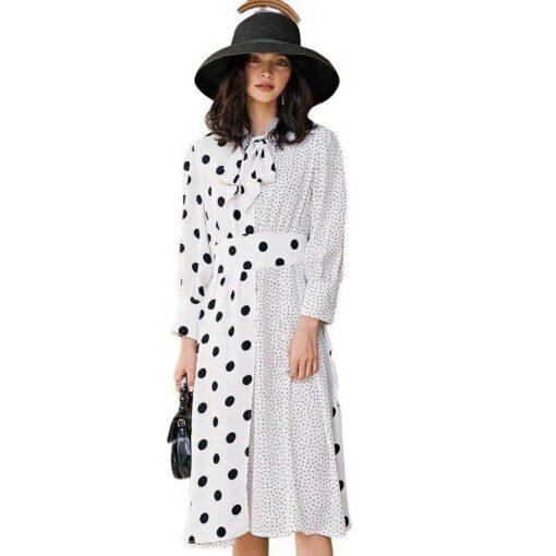 robe a pois blanc vintage