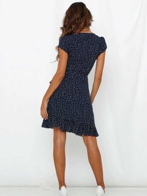 robe a pois style année 60