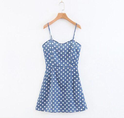 petite robe courte a pois