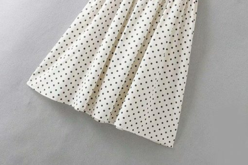 robe pin up blanche a pois mariage
