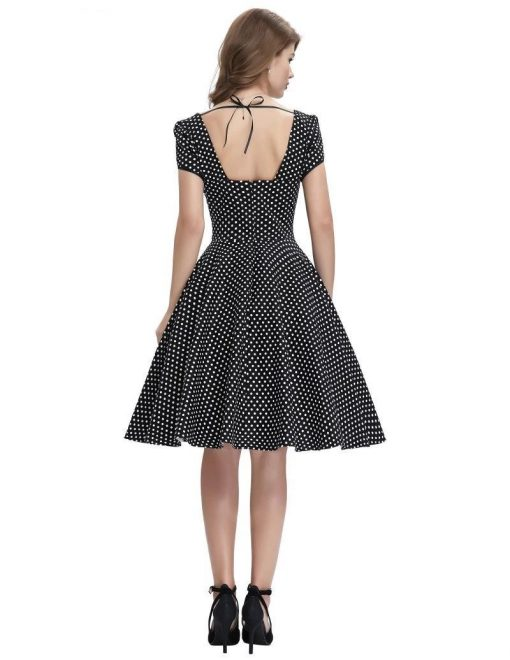 & other stories robe noire a pois blanc