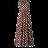 robe longue marron a pois