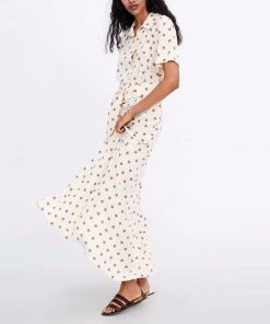 robe equine a pois blancs