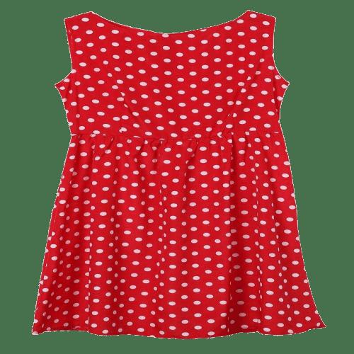 robe a pois courte rouge blanc