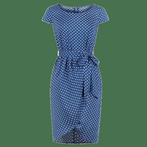 robe a pois annee 50 femme ideal avec pull col en v