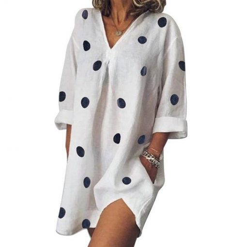 robe manche courte a pois