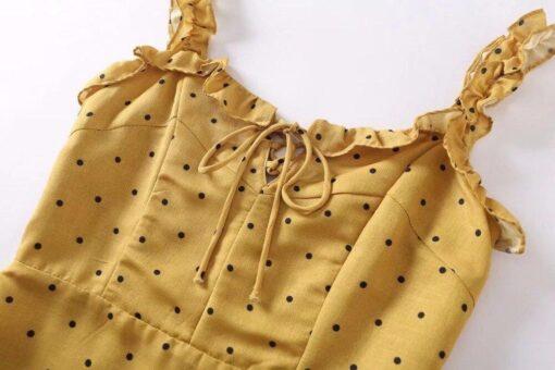 Robes à Pois Courtes##Robe à Pois Courte Floral Soleil Fluide - coccinelle-paradis
