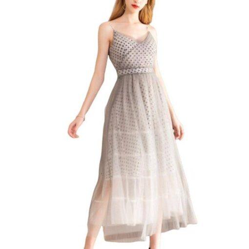 robe bretelles longue