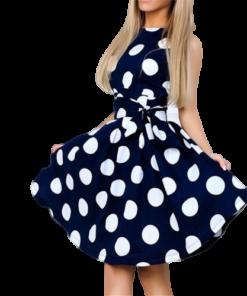 robe soiree chic et tendance a pois