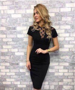robe noir courte bustier