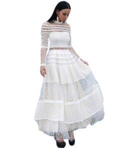 robe haut dentelle
