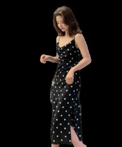robe longue a pois annee 60