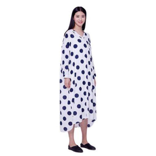 robe asymetrique lin