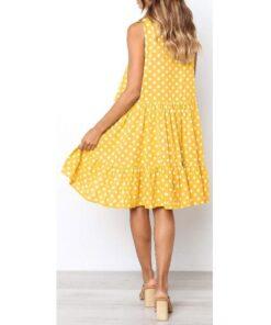 robe jaune a pois dores