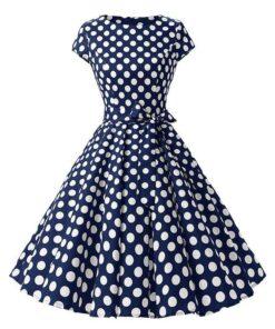 robe bleu a pois grande taille
