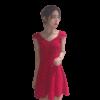 robe a pois courte rouge a pois blanc vintage