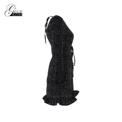 Robes à Pois Courtes#gilet noir femme manches#Robe à Pois Courteà gilet dos nu femme manches longues - coccinelle-paradis