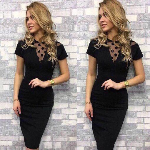 robe courte bustier noir