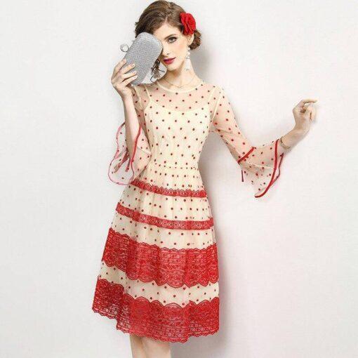 robe et dentelle