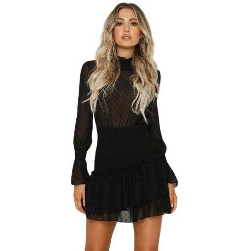 robe haut dentelle noir