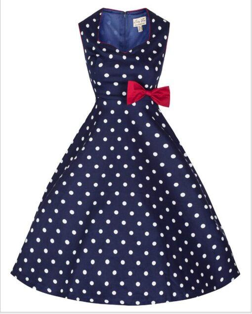robe bleu a pois