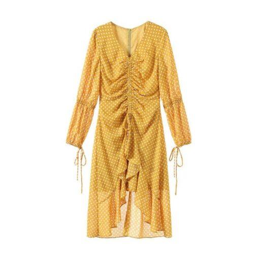 Robe à Pois##Robe à Pois volants manches - coccinelle-paradis