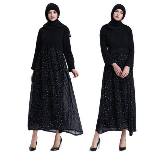 robe chemise longue noire femme
