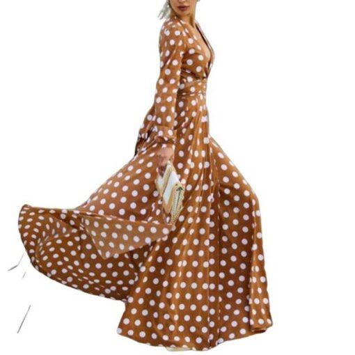 robe longue decollete plongeant