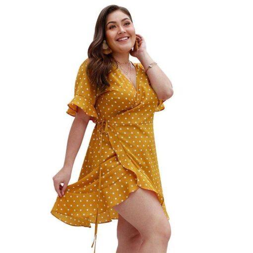 robe jaune ete