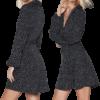 robe a pois annee 50 style chemise femme imprime