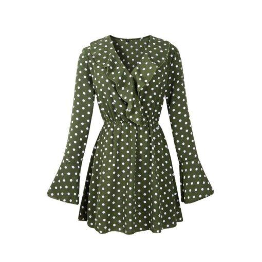 Robes à Pois Courtes##Robe à Pois Courte femme Plage Silhouette Soleil - coccinelle-paradis