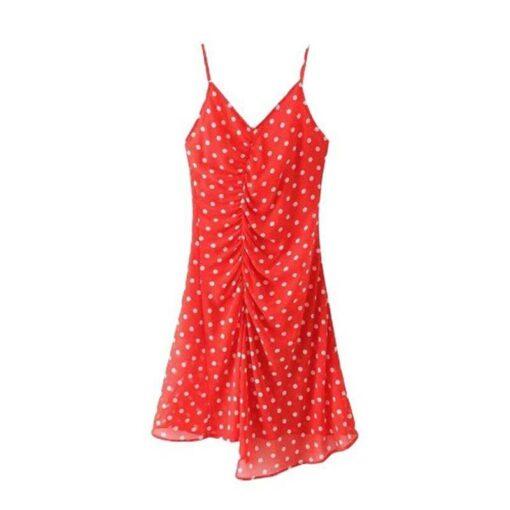 robe rouge plissee